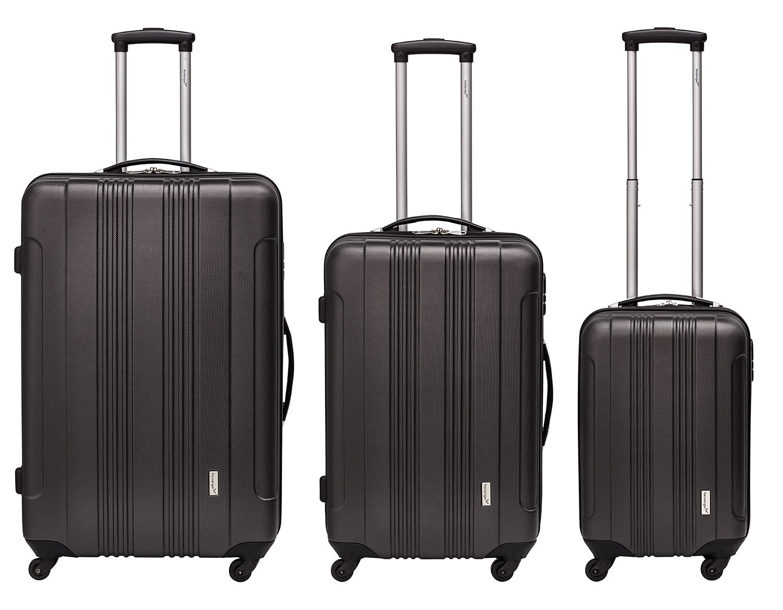 Packenger-3er-Kofferset-Torreto-ABS-Hartschale-4-Rollen-360-Grad-Zahlenschloss